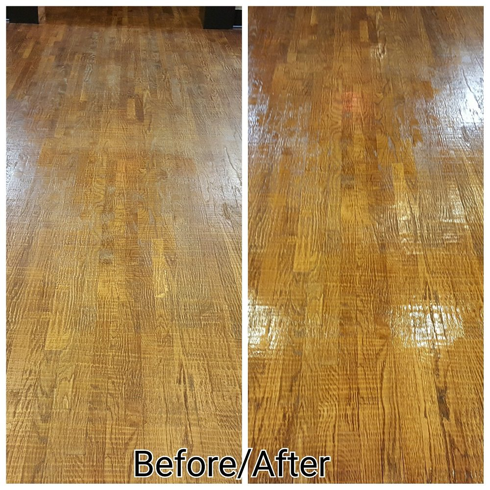 Hardwood Floor Deep Cleaning Service