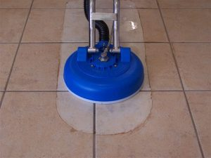 Ceramic tile grout holiday cleaning